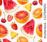 tropic seamless pattern | Shutterstock .eps vector #1127039051