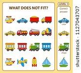 set of tasks for the... | Shutterstock .eps vector #1127043707