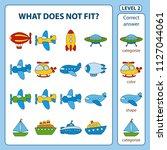 set of tasks for the... | Shutterstock .eps vector #1127044061