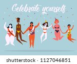 celebrate yoursel and be good... | Shutterstock .eps vector #1127046851