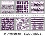 vector set seamless pattern... | Shutterstock .eps vector #1127048021