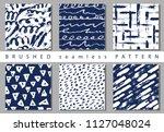 vector set seamless pattern...   Shutterstock .eps vector #1127048024