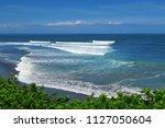 ocean waves balean beach... | Shutterstock . vector #1127050604