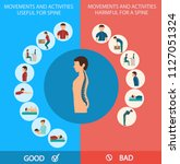 spine infographic. movements... | Shutterstock .eps vector #1127051324