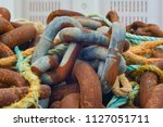 old rusty naval chain | Shutterstock . vector #1127051711