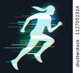 abstract silhouette running...   Shutterstock .eps vector #1127052314