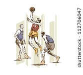 Retro Vintage Basketball Sports ...
