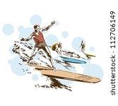 retro vintage surfing sports...   Shutterstock .eps vector #112706149