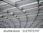 metal framework of transparent... | Shutterstock . vector #1127072747