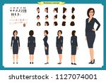 business casual fashion. front  ... | Shutterstock .eps vector #1127074001