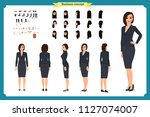 business casual fashion. front  ... | Shutterstock .eps vector #1127074007