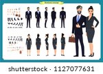 business man and woman... | Shutterstock .eps vector #1127077631