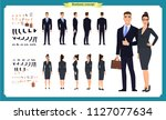 business man and woman... | Shutterstock .eps vector #1127077634