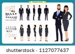 business man and woman... | Shutterstock .eps vector #1127077637