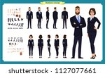 business man and woman... | Shutterstock .eps vector #1127077661