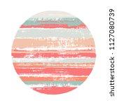 rough circle vector geometric... | Shutterstock .eps vector #1127080739