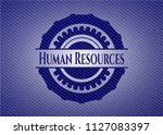 human resources with denim... | Shutterstock .eps vector #1127083397