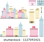 castle in the hills and... | Shutterstock .eps vector #1127092421