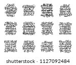 set of vector compositions for... | Shutterstock .eps vector #1127092484