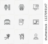 service line icon set with... | Shutterstock .eps vector #1127093147