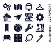set of 16 other filled icons...   Shutterstock .eps vector #1127098079