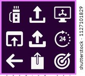set of 9 arrows filled icons...   Shutterstock .eps vector #1127101829