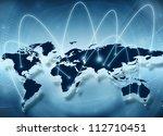 best internet concept of global ...   Shutterstock . vector #112710451