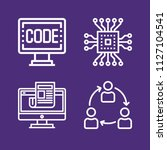 set of 4 computer outline icons ...   Shutterstock .eps vector #1127104541