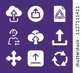 set of 9 arrows filled icons...   Shutterstock .eps vector #1127111411
