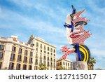 barcelona   march  2018  the... | Shutterstock . vector #1127115017