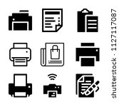set of 9 paper filled icons... | Shutterstock .eps vector #1127117087