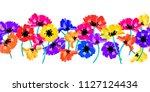 vector seamless border with... | Shutterstock .eps vector #1127124434