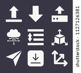 set of 9 arrows filled icons... | Shutterstock .eps vector #1127126381
