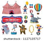 set of various circus objects... | Shutterstock .eps vector #1127135717