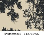 tree and branches silhouette.... | Shutterstock .eps vector #112713937
