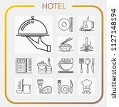 hotel  accommodation  travel ... | Shutterstock .eps vector #1127148194