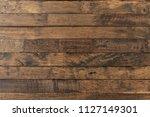 old rustic wooden floor paint... | Shutterstock . vector #1127149301