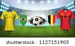 football cup 2018 world... | Shutterstock .eps vector #1127151905
