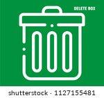 delete box vector icon  | Shutterstock .eps vector #1127155481