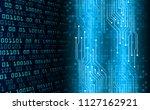 binary circuit board future... | Shutterstock .eps vector #1127162921