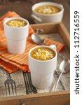 pumpkin-corn soup - stock photo