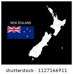 map and national flag of new... | Shutterstock .eps vector #1127166911