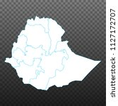 map of ethiopia. vector... | Shutterstock .eps vector #1127172707
