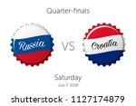 soccer championship   quarter... | Shutterstock .eps vector #1127174879