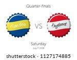 soccer championship   quarter... | Shutterstock .eps vector #1127174885