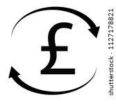 pound icon on white background. ...