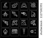 set of 16 icons such as tattoo... | Shutterstock .eps vector #1127181551