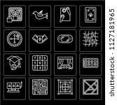 set of 16 icons such as tangram ...