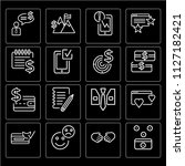 set of 16 icons such as savings ...