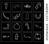 set of 16 simple editable icons ...   Shutterstock .eps vector #1127182844